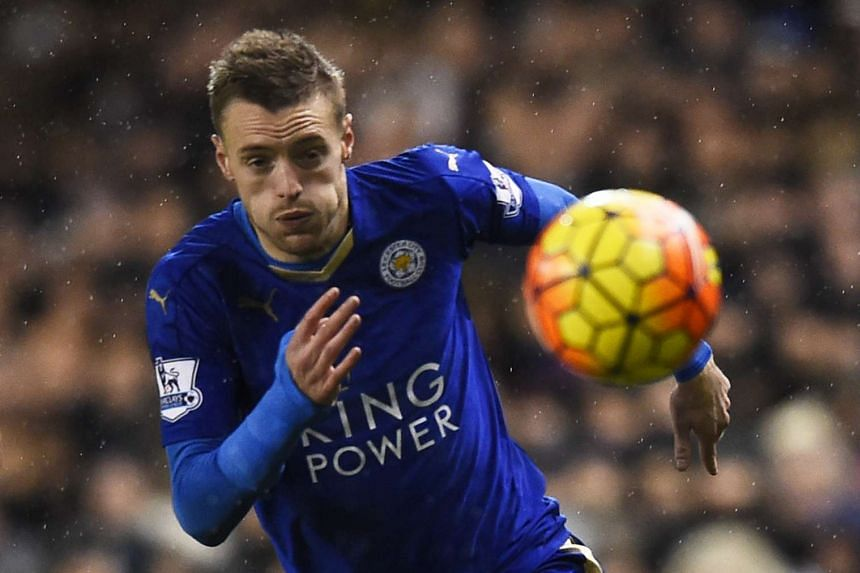 Leicester City's Jamie Vardy in action against Tottenham Hotspur on Jan 13, 2016.