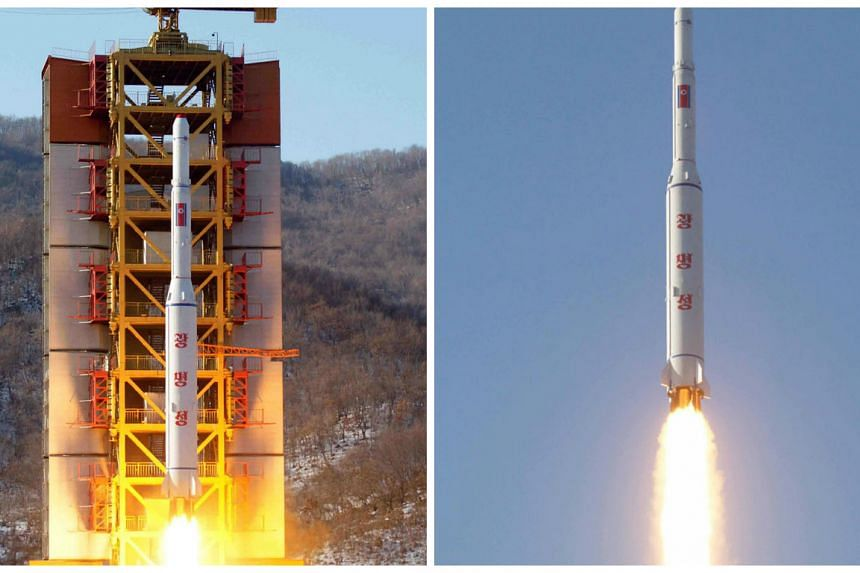 North Korea's rocket launch of the earth observation satellite Kwangmyong  at an undisclosed location on Sunday.