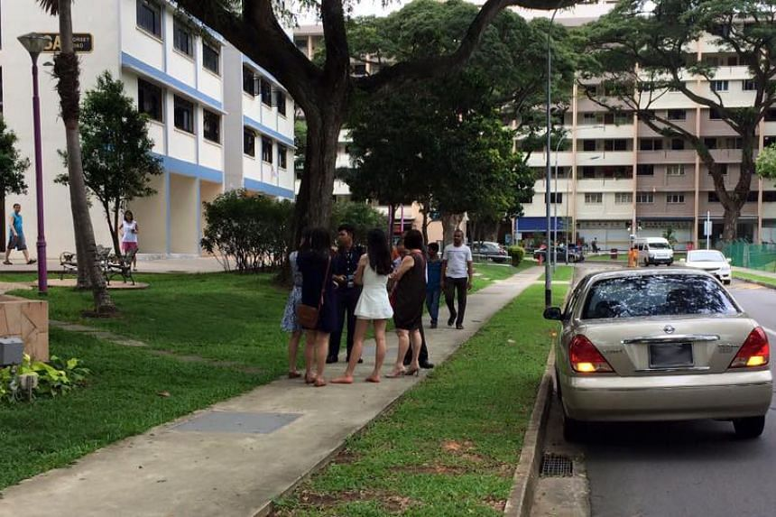 The Straits Times understands that a car crashed into the rear door of the police car causing it to swerve.