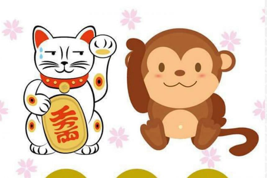 Monkey cartoons are all the rage this Chinese New Year season.