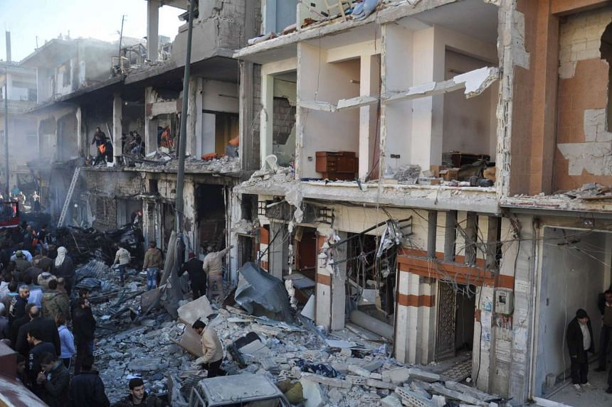 The ruins of the Old City of Homs now serve as an inspiration to some Syrian artists.
