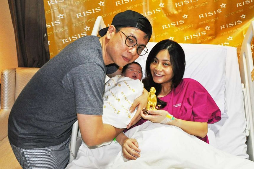 Casslyn, with mum Ling Huishan and dad John Lee, was one of two baby girls born at midnight on the first day of Chinese New Year, Feb 8, 2016.