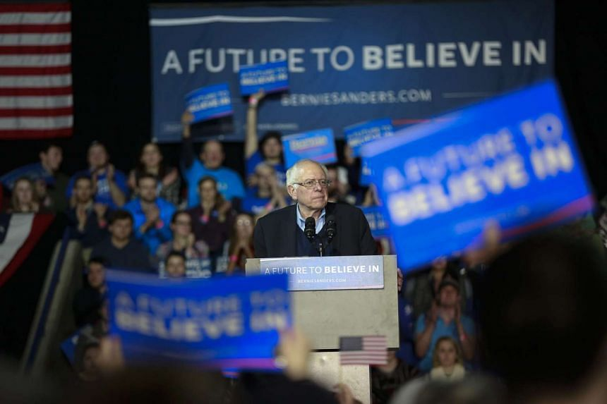 US Democratic presidential candidate Bernie Sanders at an event in Durham, New Hampshire, on Feb 8, 2016.