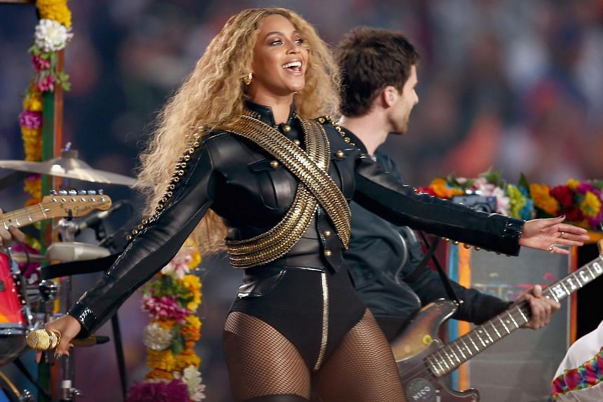 Beyonce performing during the Pepsi Super Bowl 50 Halftime Show at Levi's Stadium on Feb 7, 2016.
