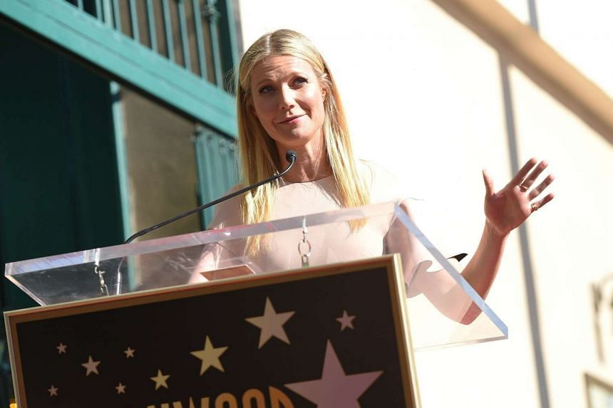 Gwyneth Paltrow attends a ceremony honoring actor Rob Lowe with a star on Hollywood Walk of Fame in Hollywood, California.