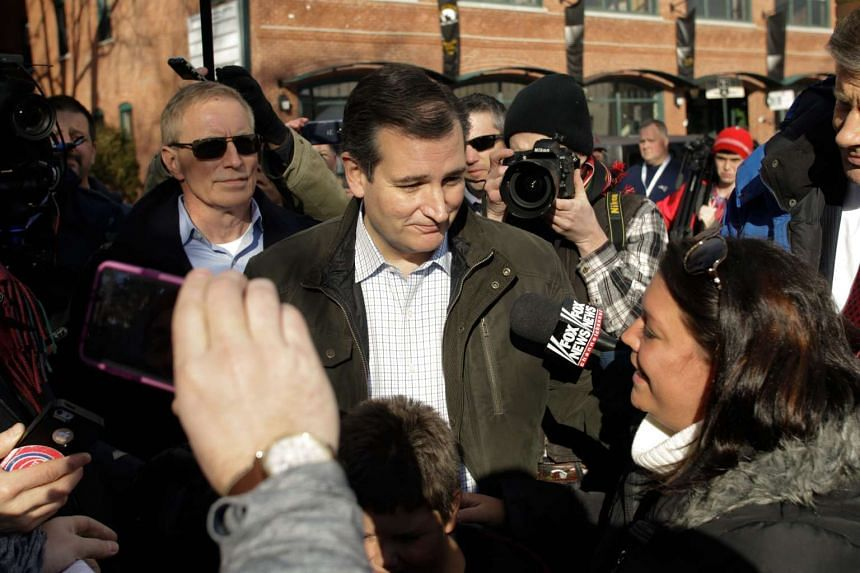 Republican presidential candidate Ted Cruz leaves a campaign stop in Manchester, New Hampshire, on Feb 9, 2016.
