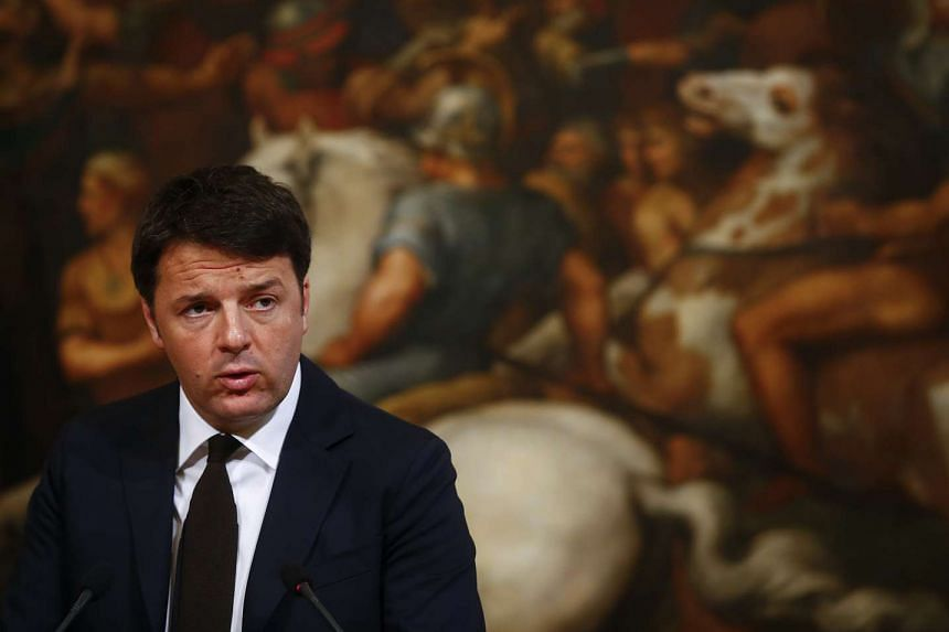 Italian PM Matteo Renzi described the European Union as being like the orchestra that was playing as the Titanic sank.