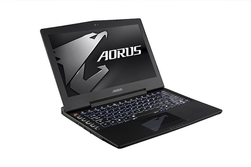 The Aorus X3 Plus v5 has an unusual screen size of 13.9 inches, and its keyboard has an additional column of keys on the left.