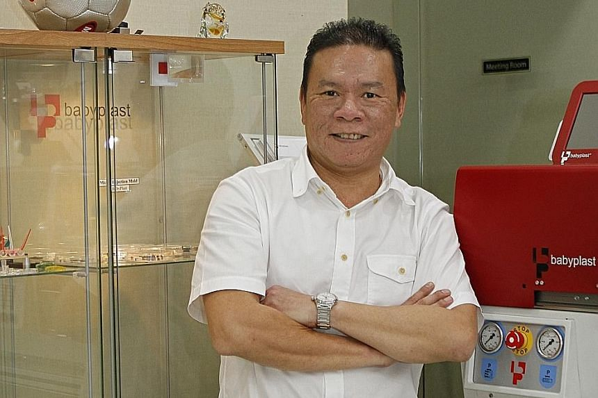 Mr Leow, managing director of Fong Shen Mould And Precision Engineering. It was part of a consortium of firms which worked with A*Star's Singapore Institute of Manufacturing Technology to make armrests for SIA Engineering. Fong Shen plans to ramp up