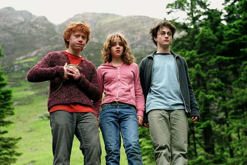 (From left) Rupert Grint, Emma Watson and Daniel Radcliffe in a still from Harry Potter And The Prisoner Of Azkaban.