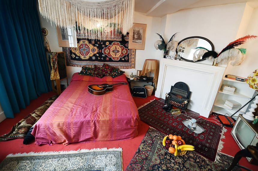 American rock star Jimi Hendrix's old London flat has been re-created in exact detail.