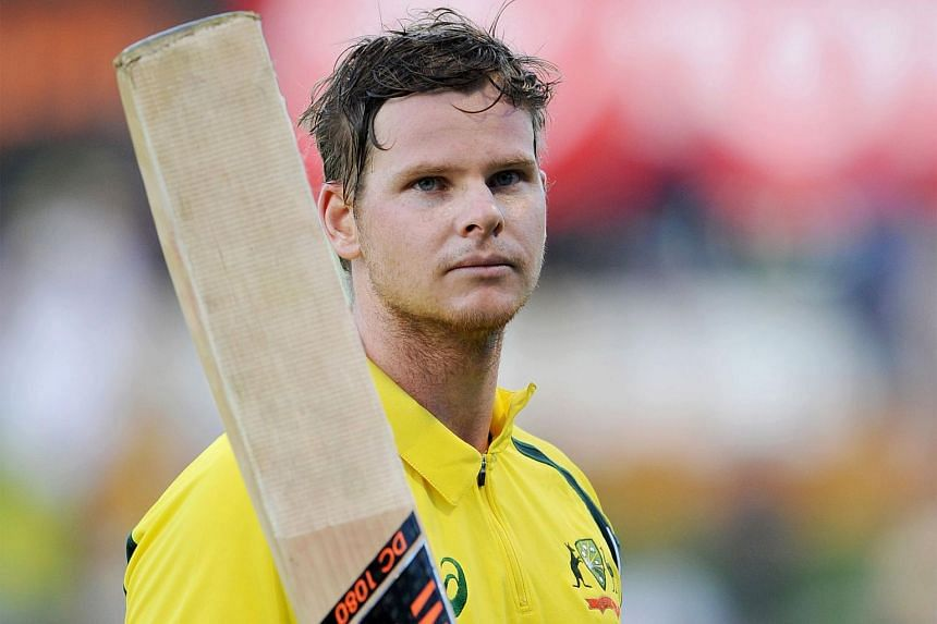 Australia's captain Steve Smith during a match in Perth, on Jan 12, 2016.