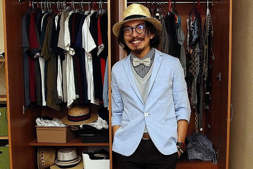Lecturer Sean Chen Liu (above) says ties, socks and hats are essential to a gentleman's wardrobe.