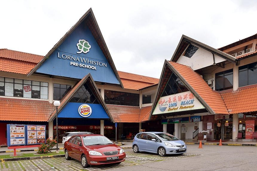 The establishments at East Coast Park's Raintree Cove - about 10 of them - include Long Beach Main Seafood Restaurant, Lorna Whiston Pre-school and Singapore's only drive-through Burger King outlet. Development works in the area also saw the closing