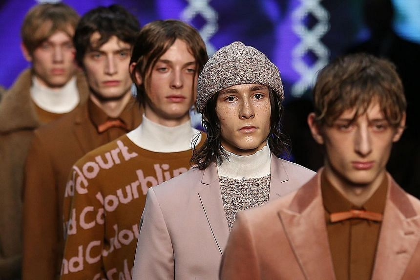 Models in outfits by the Danish-owned label Tiger of Sweden at London earlier this month.