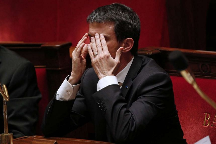 French Prime Minister Manuel Valls gestures during debate at the French National Assembly in Paris on Wednesday.