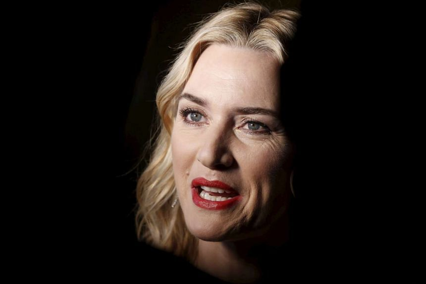 British actress Kate Winslet speaks to journalists at the 36th London Critics' Circle Film Awards in London on Jan 17.
