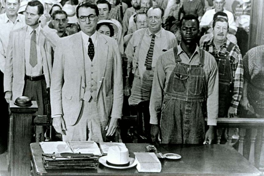 Gregory Peck (left) and Brock Peters star in the classic movie version of To Kill A Mockingbird.