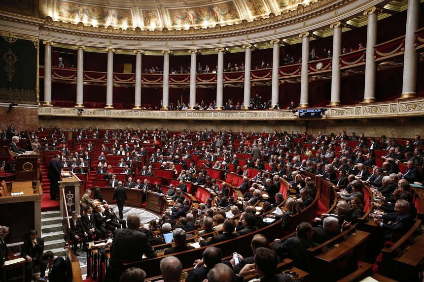 MPs debate at the French National Assembly in Paris on Wednesday.