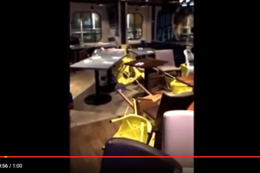 Passengers aboard he Royal Caribbean's Anthem of the Seas captured photos of the storm and resulting damage.