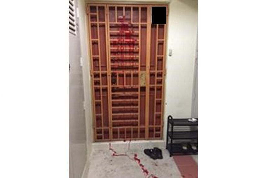Police arrested a man for allegedly splashing paint on a HDB unit at Rivervale Crescent.