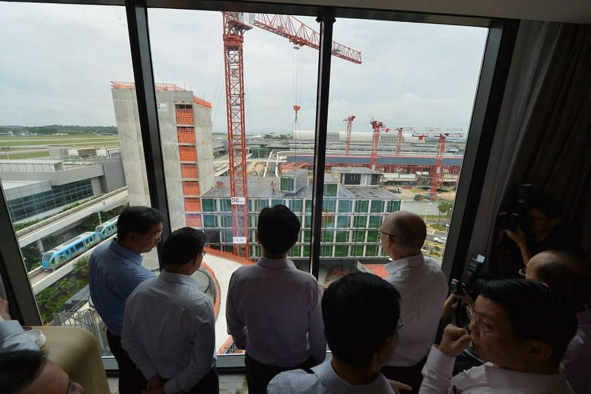 The view of the extension site under construction.