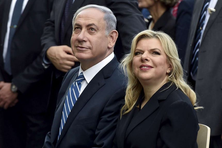 Prime Minister Benjamin Netanyahu and wife Sara in a file photo at the Expo 2015 global fair in Milan, Italy.