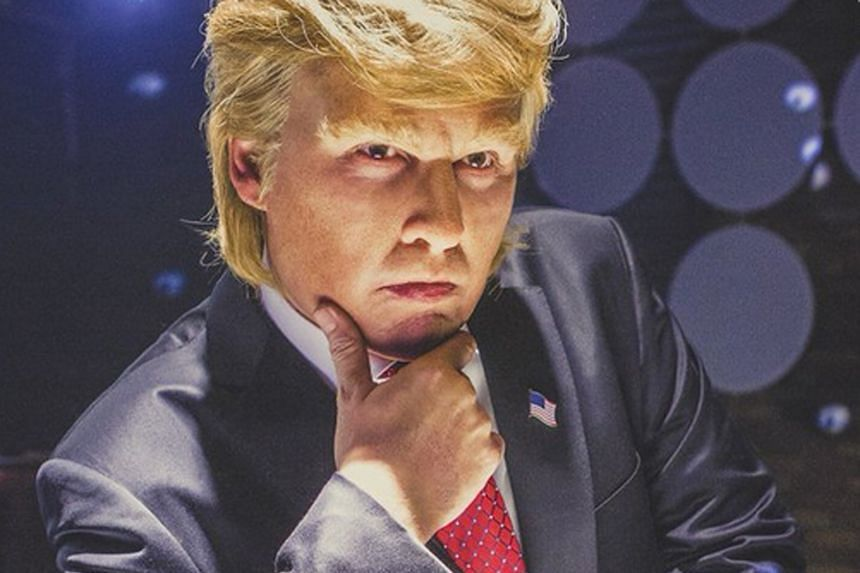 Actor Johnny Depp is unrecognisable in his role as tycoon Donald Trump.