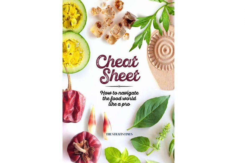 The cover for Cheat Sheet: How To Navigate The Food World Like A Pro, an new e-book from The Straits Times.