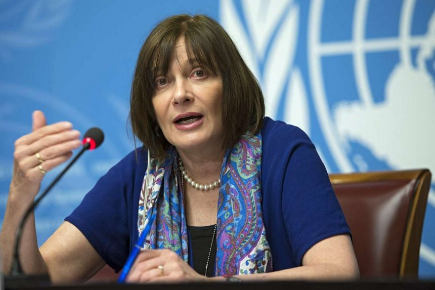 Marie-Paule Kieny attends a press conference about the WHO involvement in Zika research and development at the UN headquarters in Geneva on Feb 12, 2016.