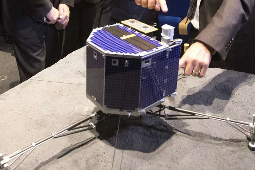 A scale model of Rosetta lander Philae.