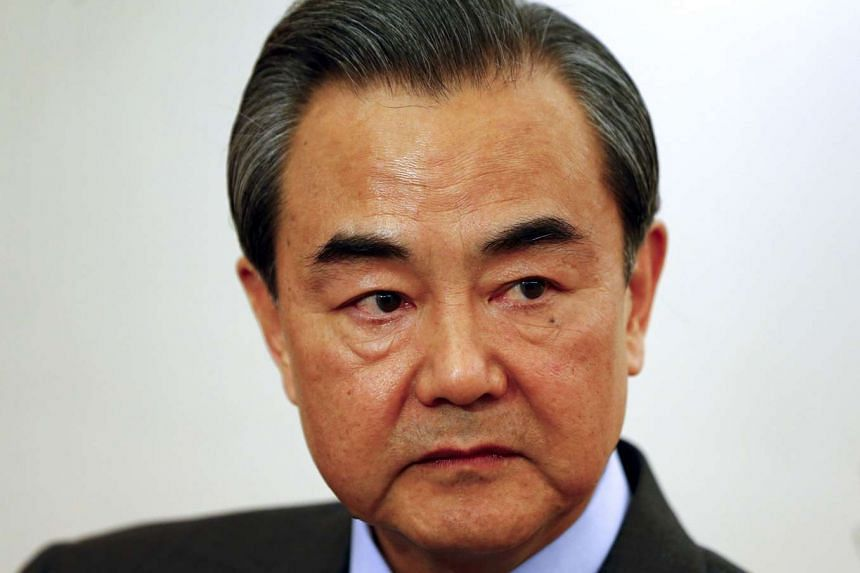 China's Foreign Minister Wang Yi also said that Beijing was urging the United States not to deploy its sophisticated THAAD missile defence system to South Korea.
