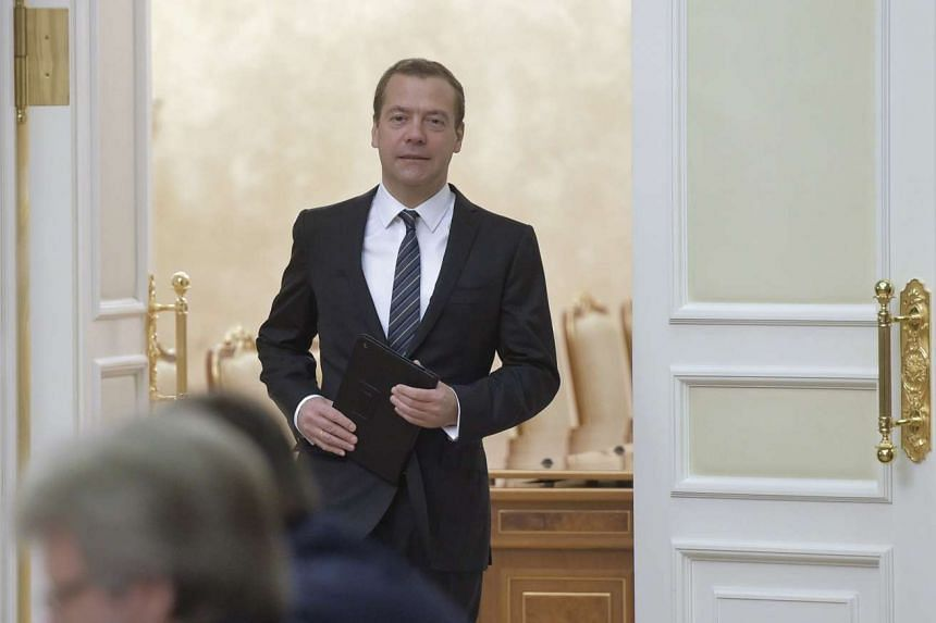 """Medvedev (above) warned that if Arab forces enter the Syrian war, they could spark a """"new world war""""."""