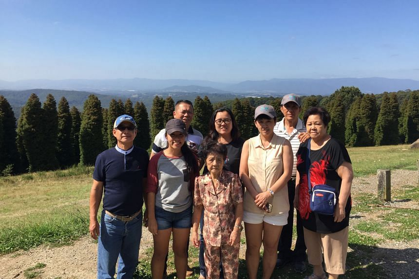 Student Zhuo Shi Lin (second from left) with her family at the Dandenong Ranges, east of Melbourne, during the Chinese New Year holidays. The Zhuos also went hiking at Grampians National Park.
