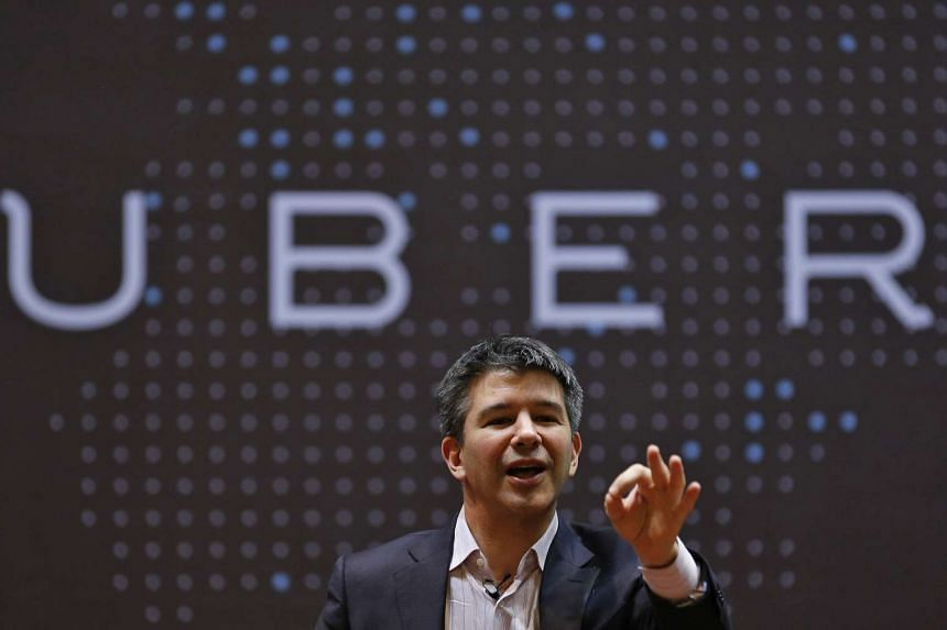 Uber chief executive Travis Kalanick speaking to students in India.