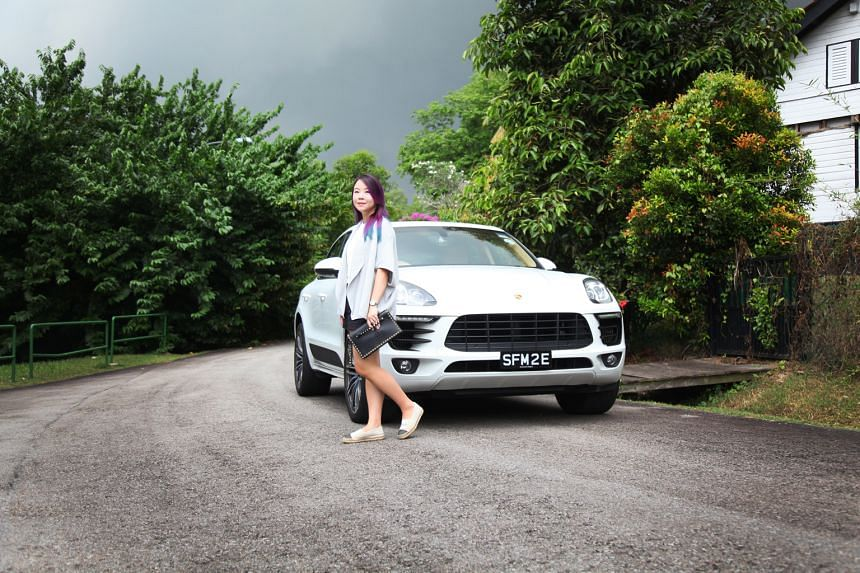 Ms Mercy Goh, who drives a Porsche Macan S, likes her cars fast.
