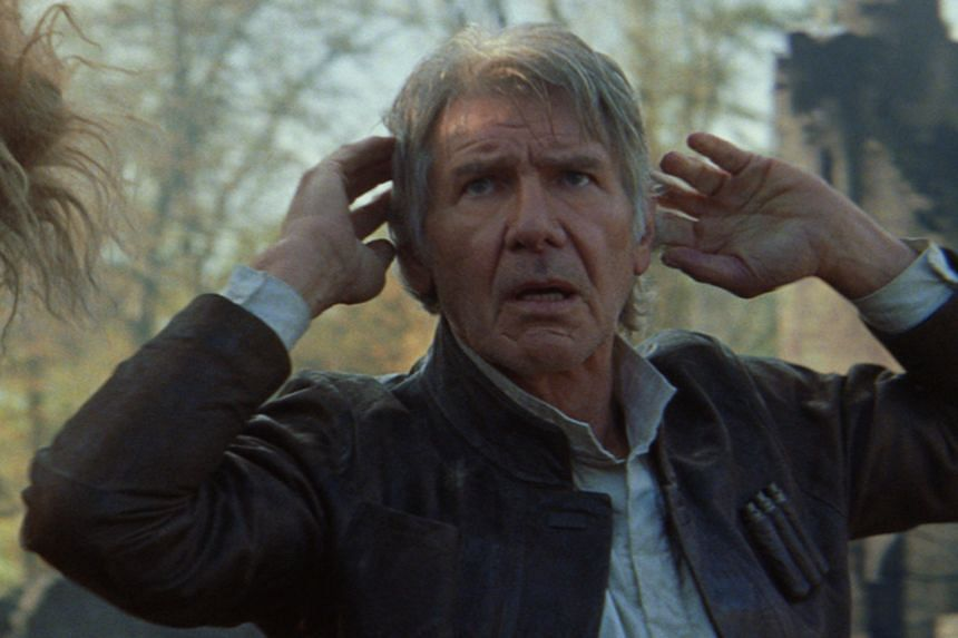 Filming of Star Wars: The Force Awakens left Harrison Ford with a broken leg when he was struck by a heavy door.