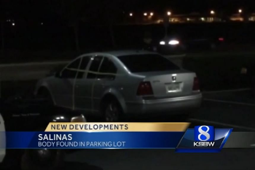 A screenshot of the woman's car from a TV report.