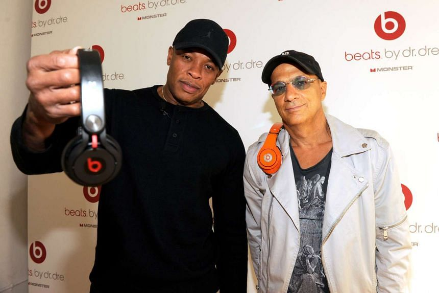 Dr Dre (left) and music mogul Jimmy Iovine in a 2011 file photo.