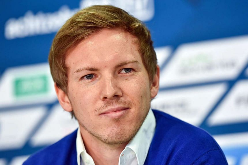 Nagelsmann attends a press conference in Germany.
