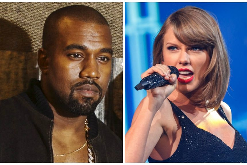 Kanye West (left) claims in a new song that he made Taylor Swift (right) famous.
