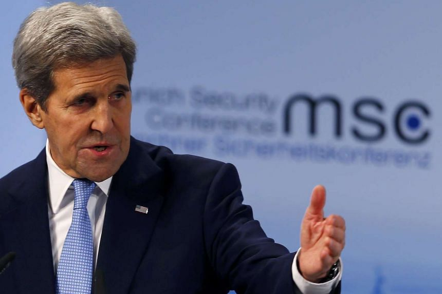 John Kerry delivers a speech at the Munich Security Conference in Munich, Germany on Feb 13, 2016.