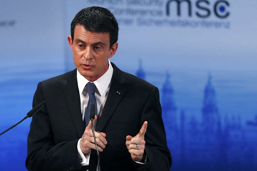 French Prime Minister Manuel Valls delivers a speech at the Munich Security Conference in Germany on Feb 13, 2016.