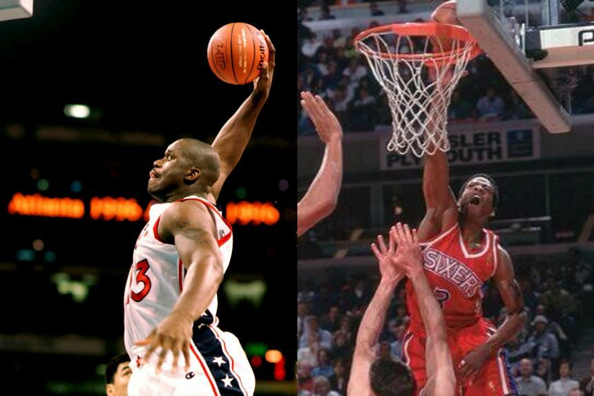 Shaquille O'Neal (left) and Allen Iverson headline a list of 14 finalists for the Naismith Memorial Basketball Hall of Fame announced on Friday (Feb 12).
