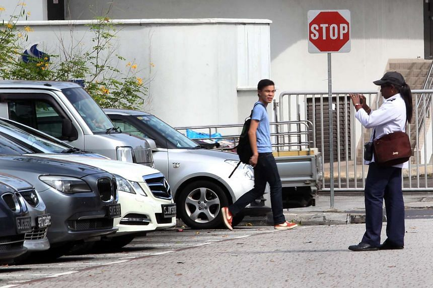 One of the jobs affected by outsourcing is carpark enforcement, said Mr Zainal.