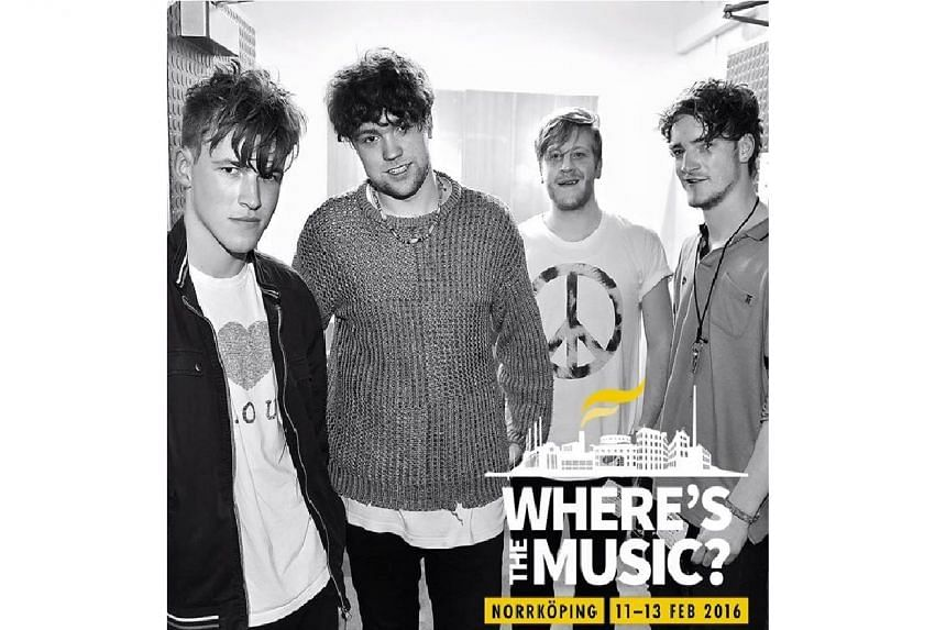 Five people, believed to be members of the British indie band Viola Beach (above) and their manager, died in a road crash in Sweden on Feb 14, 2016.