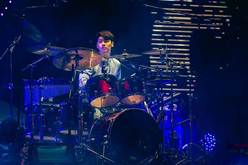 Drummer Kang Min Hyuk of Korean band CNBlue at their Come Together in Singapore concert on Feb 13, 2016.