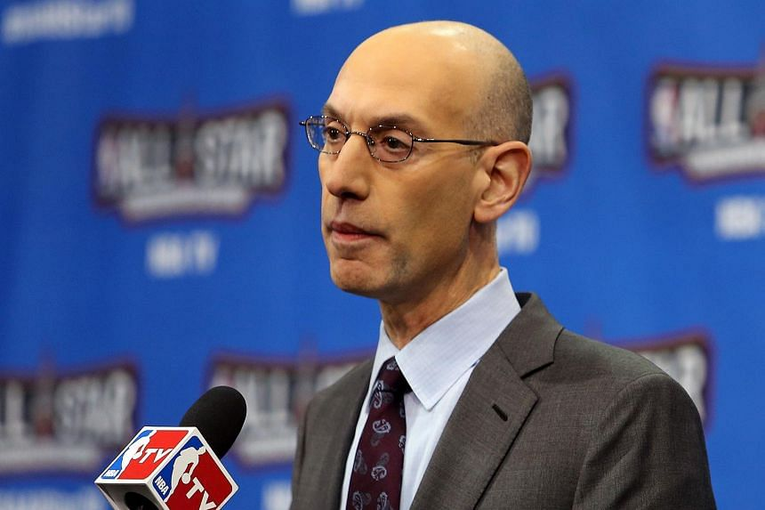 NBA Commissioner Adam Silver speaks during a press conference on Feb 13, 2016.