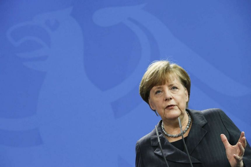 German Chancellor Angela Merkel addressing a news conference at the Chancellery in Berlin, Germany, on Jan 29, 2016.