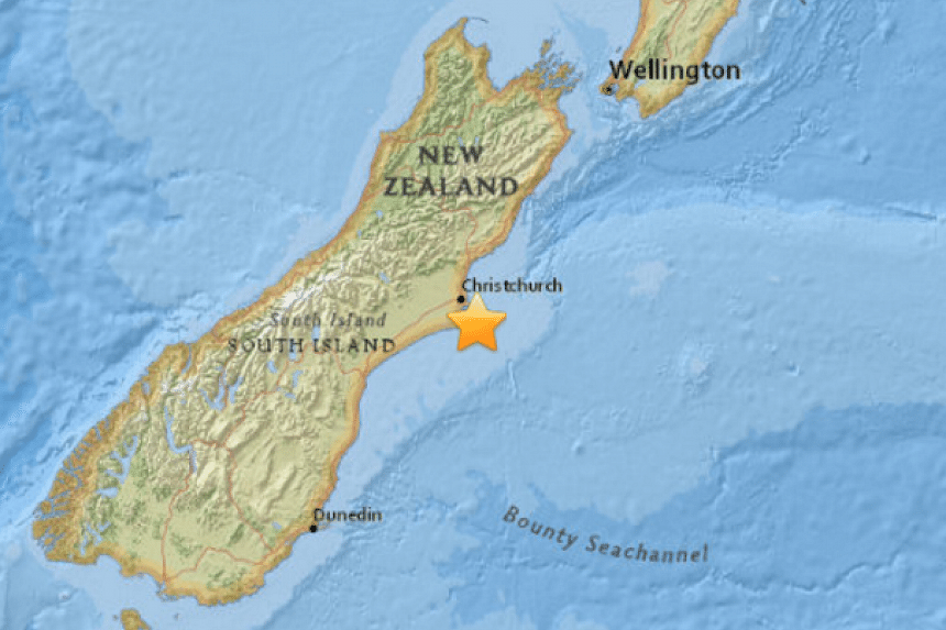 A 5.8-magnitude earthquake hit the New Zealand city of Christchurch on Feb 14, 2016.